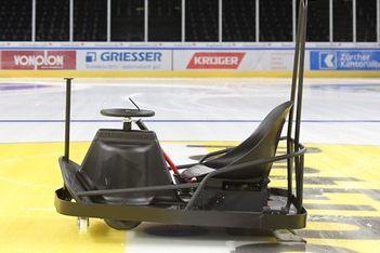 Die einmalige Mischung aus Go-Kart und virtuellem Game auf dem Eis des Hallenstadions in Zürich