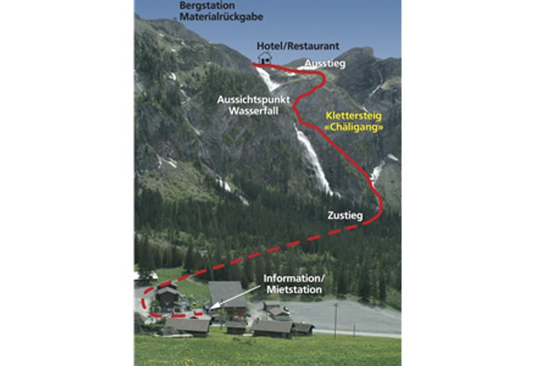 Klettersteig Adelboden : Klettersteig chäligang engstligenalp bern aktivitäten