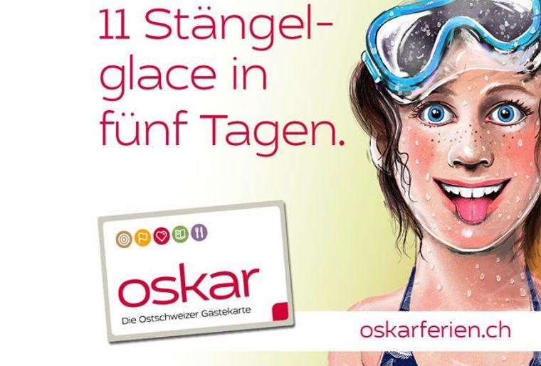 Oskar, die  Ostschweizer Gästekarte