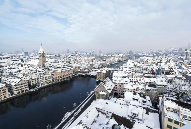 Zurich im Winter