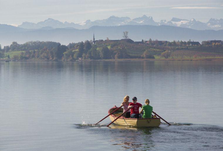 Mit dem Ruderboot auf dem Pfäffikersee