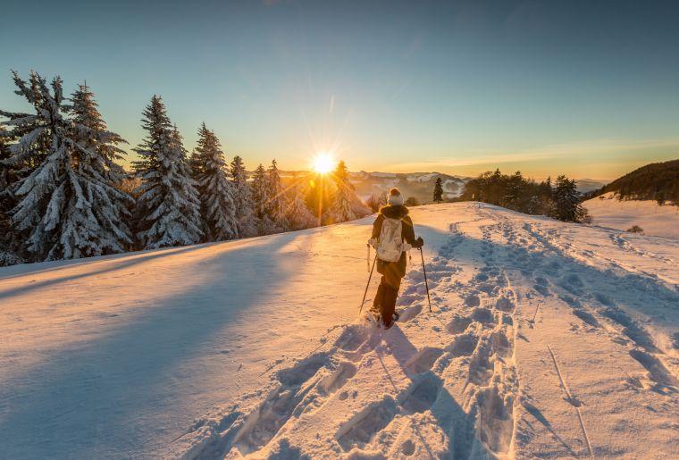 Schneeschuhlaufen in Passwang, Ramiswil