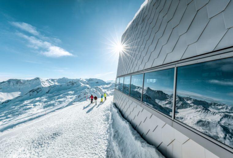 Neues Gipfelrestaurant auf dem Weisshorn, Arosa.