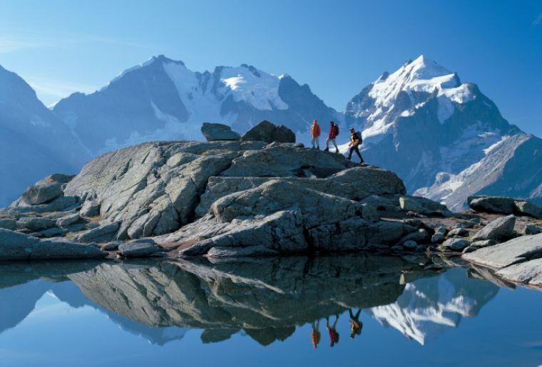 Wandern auf Fuorcla Surlej auf 2755 m