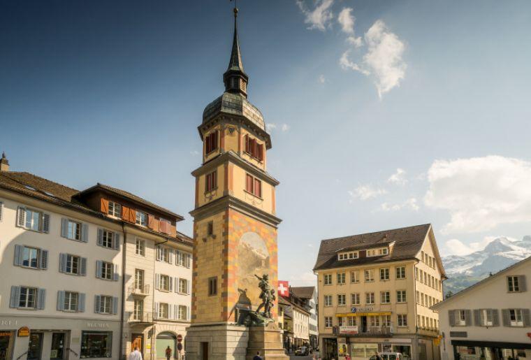 Das Telldenkmal in Altdorf, Uri