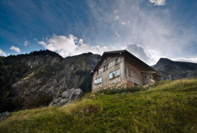 Alphuette im Fellital bei Gurtnellen im Kanton Uri, Zentralschweiz