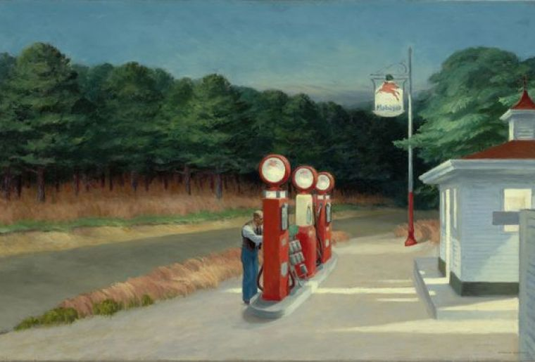 EDWARD HOPPER, GAS, 1940 © Heirs of Josephine Hopper 2019, ProLitteris, Zurich 2019 Digital image, The Museum of Modern Art, New York  Scala, Florence