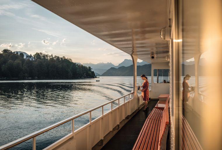 auf dem Vierwaldstaettersee Schiff
