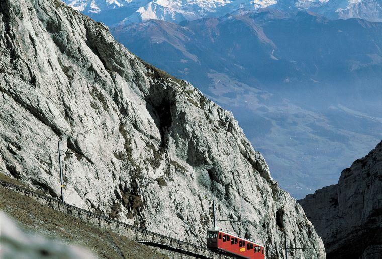 Zahnradbahn ab Alpnachstad