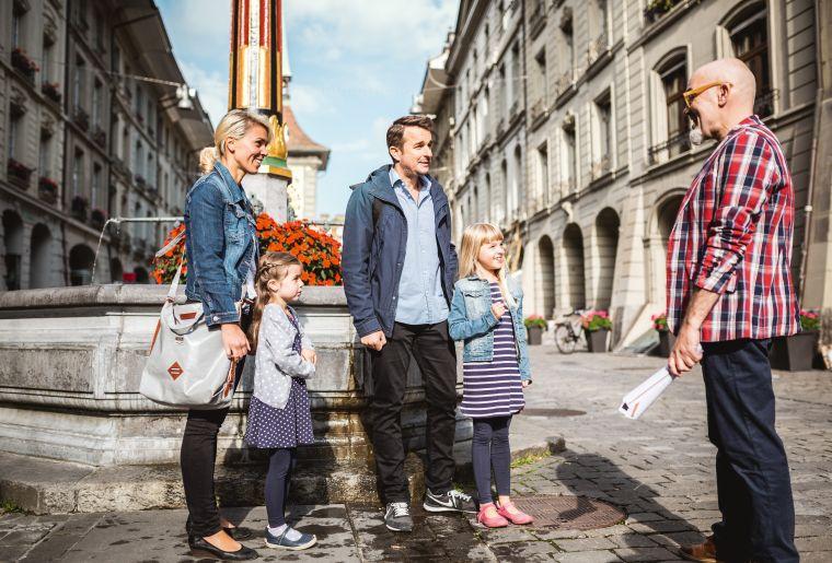 Familie in der Kramgasse, Bern