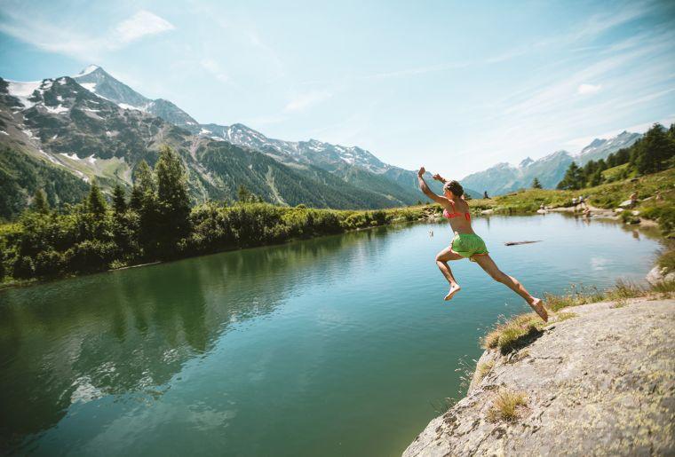 Badeplausch am Schwarzsee