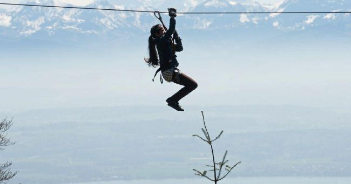 Nervenkitzel ist im Kletterpark von Chaumont garantiert.