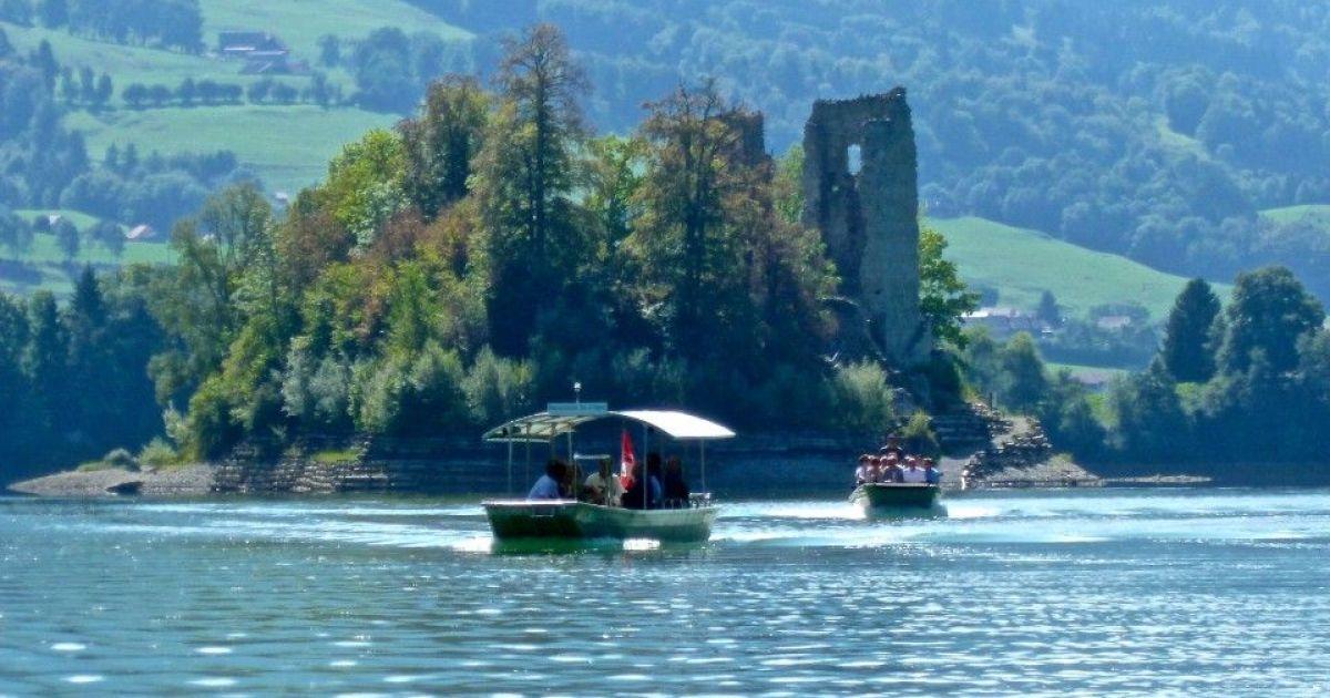 Die schönsten Inseln der Schweiz: Ile d'Ogoz im Greyerzersee