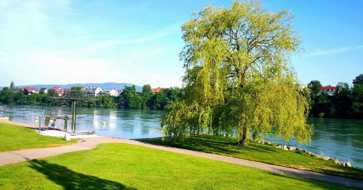 Rheinfelden: Strandbad am Rhein