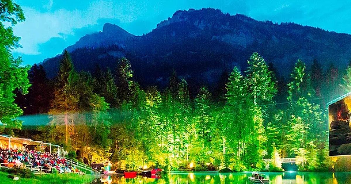 Die besten Open Air Kinos der Schweiz: Blausee Open Air Kino