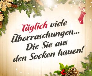 Der Adventskalender verwöhnt Sie bereits vor Weihnachten!
