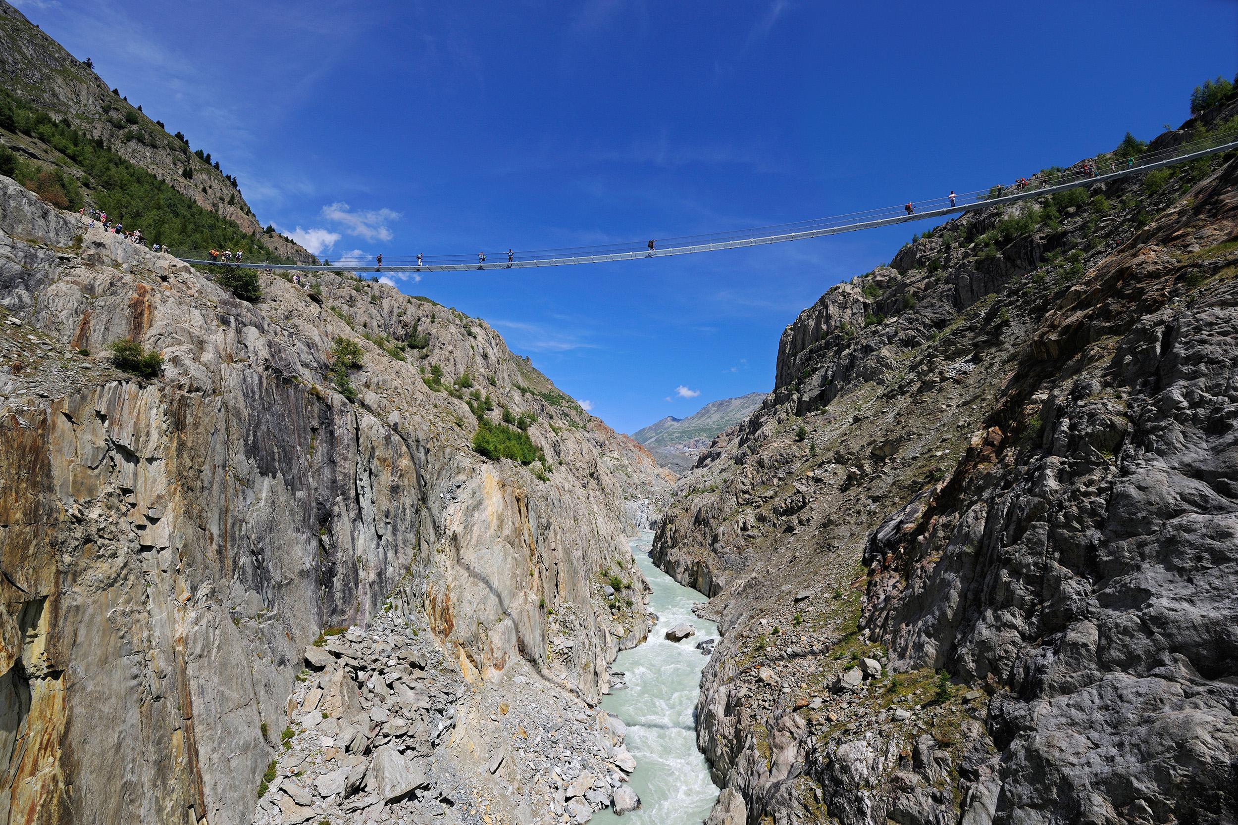 Hängebrücke Aletschji