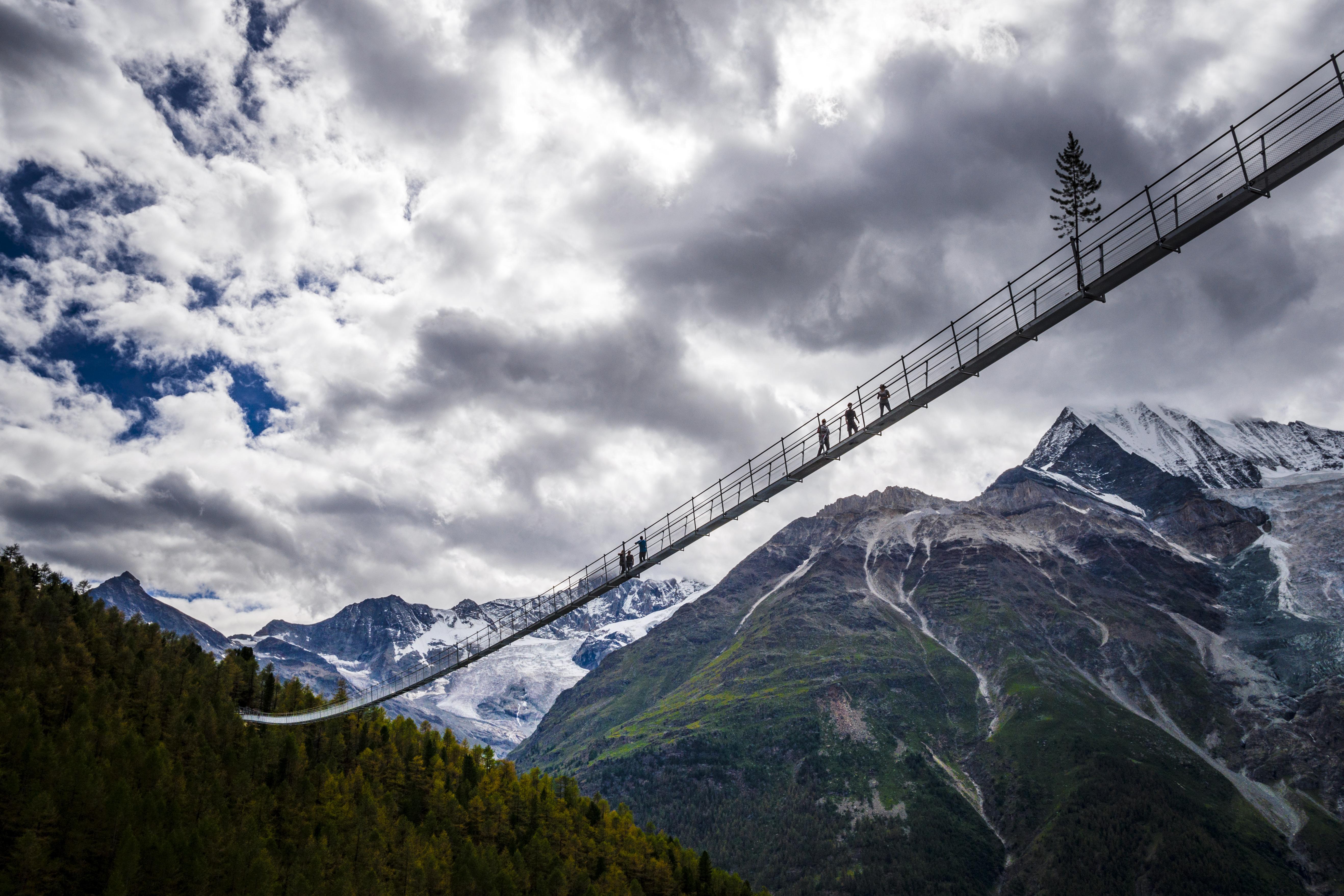 Charles Kuonen-Hängebrücke bei Randa