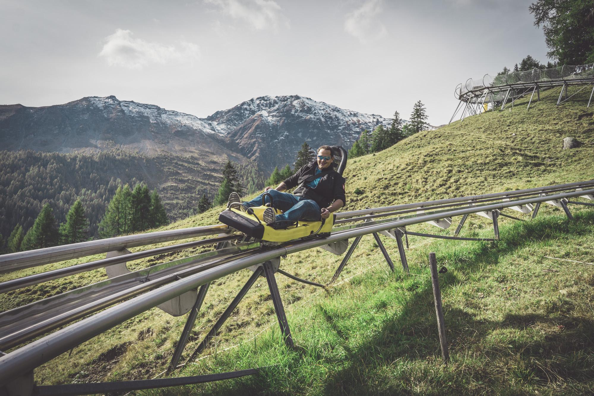 Die Rodelbahn Pradaschier in Graubünden