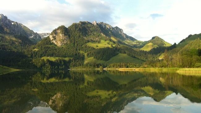 Schwarzsee im Naturpark Gantrisch