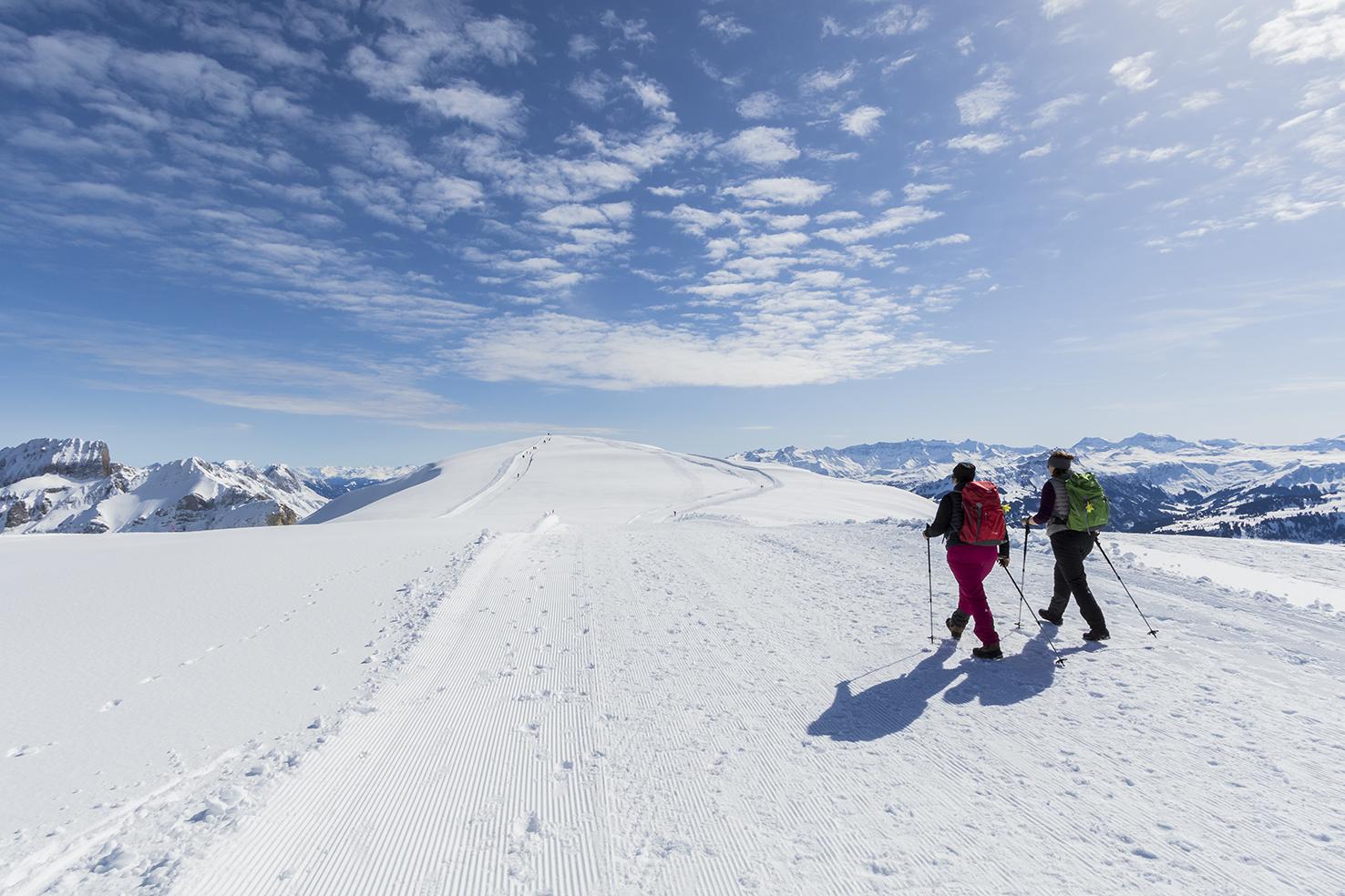 Winterwandern am Chäserrugg
