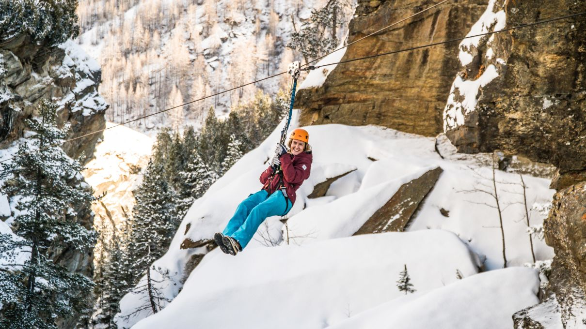 Winter-Klettersteig Saas-Fee