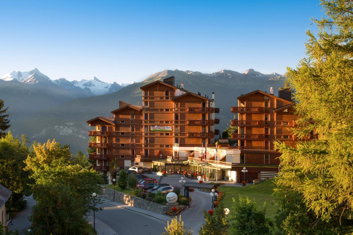Das Hotel Helvetia Intergolf in Crans Montana