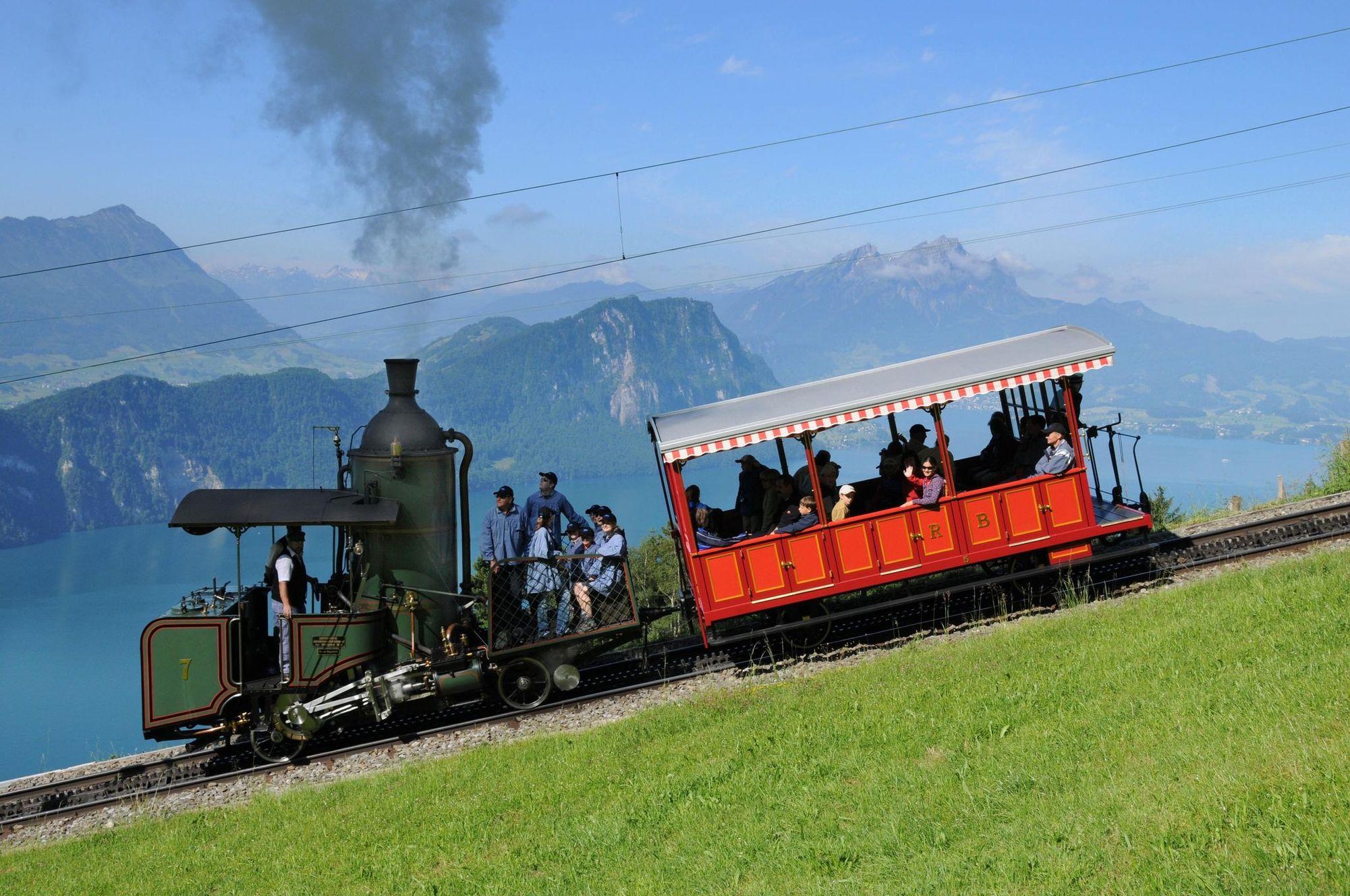 Lok 7 Jubiläum der Rigi-Bahnen